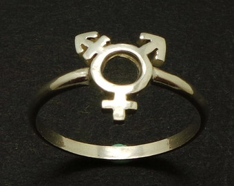 Silver Gender Equality Symbol Ring - Women Equality Ring - Feminism Feminist Ring, Women Pride Ring - Women's Day - Equal Right