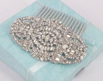 Betty- Rhinestone Bridal Comb