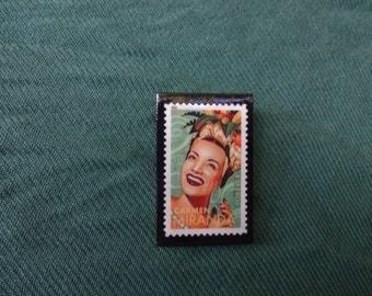 Carmen Miranda Postage Stamp Pin