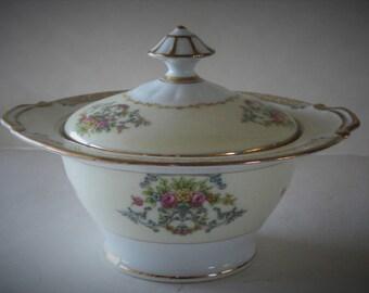 Vintage NORITAKE China Lidded Sugar Bowl Dish Japan.