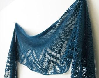 Knitting Pattern Pdf - Loch Katrine Lace Shawl / Lace Shawlette / Lace Wrap / Lace Scarf