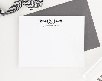 Personalized Monogram Stationery // Personalized Stationary // Monogram Thank you cards // Personalized Note Cards, MS006