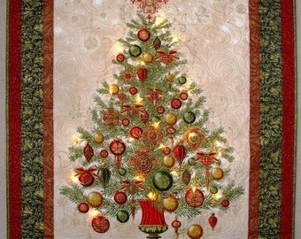 Christmas Tree Wallhanging Red Green
