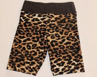 Girls Cheetah Shorts Size 6x