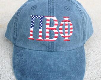 Pi Beta Phi American Flag Cap