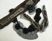 Studded Patch, Beaded Trim, Crafting Supply, Sewing Supply