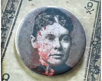 """Lizzie Borden -  2.25"""" Pocket Mirror OR Button"""