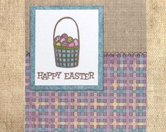 Easter card, Happy Easter, Easter Basket, Handmade Easter Card, Clearance