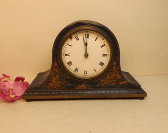 France clock, oriental design,not working condition.Wooden frame.Marked: France.Restoration.
