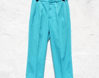 Turquoise trousers light blue trousers turquoise suit pants formal trousers pleated trousers turquoise wedding groom trousers