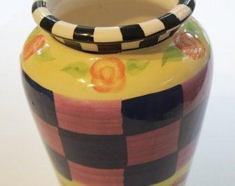 Handpainted Colorful Ceramic Vase