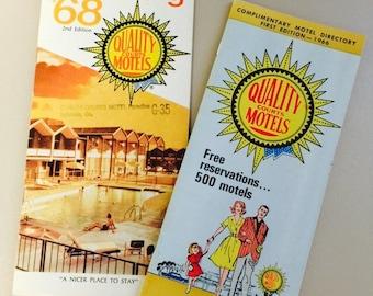 Vintage Quality Courts Motels Brochures 1960s Mid-Century Travel Ephemera