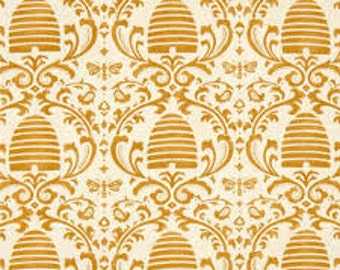 "Moda ""bee Creative"" bee damask fabric"