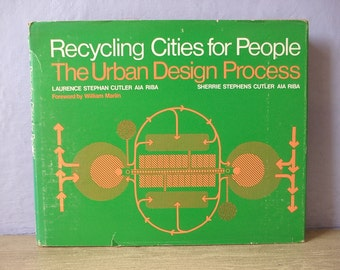 Vintage 1970's Recycling Cities for People The Urban Design Process by Laurence Cutler, 1976, Real Estate book, Landscaping Garden book