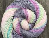 Hand Dyed Yarn, Gradient Yarn, Heathered Yarn, Fingering Weight Yarn
