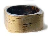 Birch Bark Bracelet - Real Birch Bark Bangle- Resin Jewelry- Brown Jewelry- Brown Bracelet-Nature Jewelry- Birch Bracelet- tan jewelry