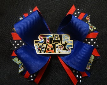 Star Wars inspired hairbow, large 5 inch boutique bow