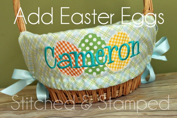 Personalized Easter Basket Liners Easter Wikii