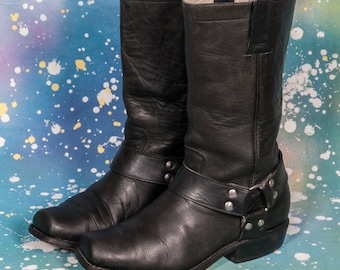 DON QUIOTE Motorcycle Boots Men's Size 8 .5