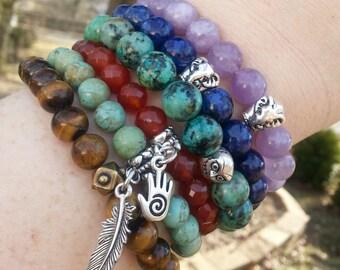 Wholesale Jewelry - Wholesale Set of 20 Yoga Bracelets - 20 Healing Bracelets Wholesale