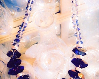 Blue Faceted Necklace