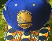 Golden State Warriors NBA Basketball Oakland Snapback hat African Fabric