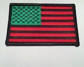 African American Flag iron on Patch Black RBG David Hammon Harlem