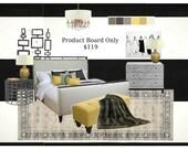 Bedroom Decor   Custom 4 Your Space   E Design   Bedroom Furniture   Bedroom Art   Bedroom Curtains   1 Room Product Board   Bedroom Lights