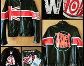 Wilsons Leather Rocks The Who Motorcycle/Biker Jacket Mens Small