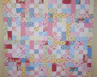 Ready to Ship, Girl Quilt, Baby Shower Gift, Handmade, Baby Quilt, Quilts for Sale, Girl Quilt, Baby Blanket, Busy Hands Quilts