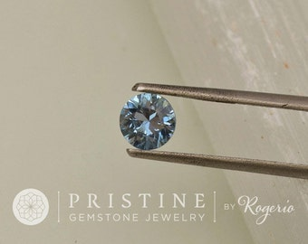 Blue Sapphire Round Shape Loose Faceted Natural Gemstone for Engagement Ring September Birthstone
