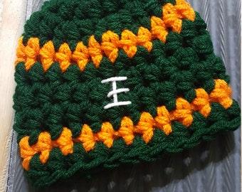 Miami Baby Boy Football Hat Newborn Baby Crochet Sports Beanie Boy Girl Team Colors Available