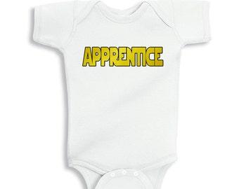 Apprentice White baby bodysuit o shirt