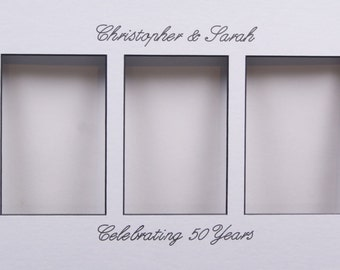 Personalize Wedding Gift Calligraphy On Any Mat with Frame