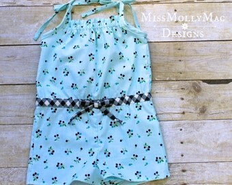 Blueberry Hill Romper 3T Ready to Ship