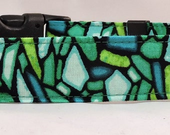 Dog Collar, Martingale Collar, Cat Collar - All Sizes - Art Glass