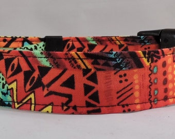 Dog Collar, Martingale Collar, Cat Collar - All Sizes - African Sunset