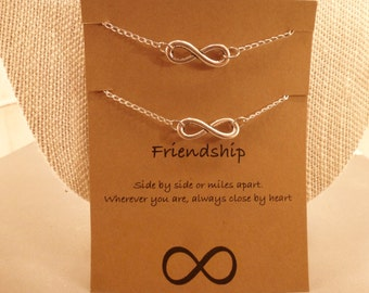 Infinity Bracelets: Set of Two Infinity Friendship Bracelets, Long Distance Friendship, Wish Bracelets, Best Friends, Friendship Bracelets