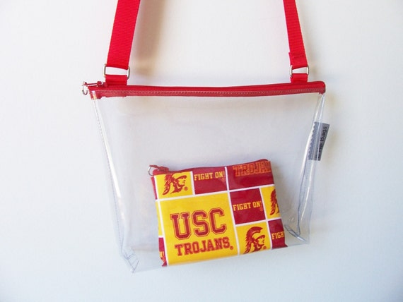 USC Trojans Clear Stadium Bag Monogram Set Security PGA Tour