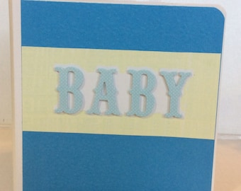 Baby Boy scrapbook premade chipboard Board Book mini album - 5x5