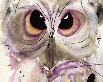 Large Owl Art Print, 12 x 16 Wildlife Print