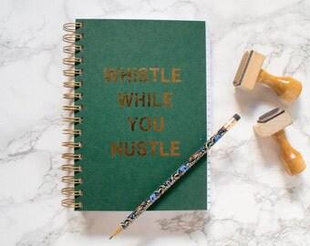 Rose Fold Foil Bullet Journal Notebook. Spiral Notebook. Graph Paper. Dot Grid Paper. Dotted Paper. Blank Paper.