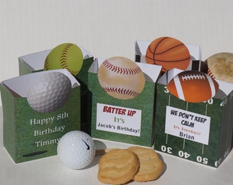 Sports Party Favors, party bags, Baseball, football, golf, party, softball,tennis basketball, sport banquet. Set of 10. US open party favors