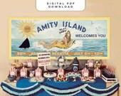 Jaws Amity Island Billboard - Banner / Sign / Poster