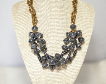 SALE Matooke Necklace -Charcoal Black