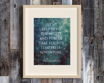 Pursue Adventure, Harry Potter, Harry Potter Art, Harry Potter Quotes, Quote Art, Book Lover, Literary Gifts, Literary Prints, HP, Potter