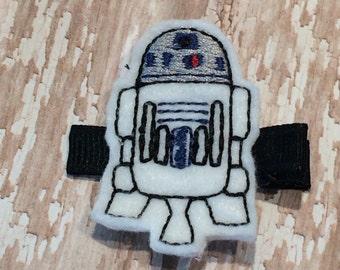 White Robot Star Wars White Felt Hair Clip Babies-Toddlers-Girls