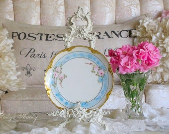 Stunning Haviland LIMOGES FRANCE Pink Rose PLATE, Shabby Chic, French, Floral