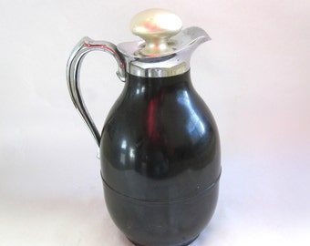 Vintage Carafe American Thermos Pitcher Hot N Cold Beverage Keeper