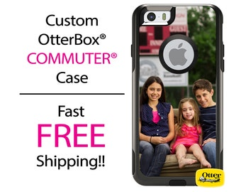 iPhone OtterBox Commuter Case for iPhone 7, 7 Plus, 6/6s, 6 Plus/6s Plus, 5/5s/SE, 5c Galaxy S7 S6 S5 Note 5Custom Photo Image Logo Case